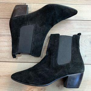 Topshop | Black Suede Booties | Size 42